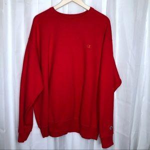 Champion 2XL crewneck pullover sweatshirt Red